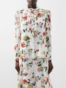 Cecilie Bahnsen - Penelope Cotton Organdie Midi Dress - Womens - Light Pink