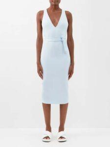 Chopova Lowena - Technical Shell And Wool Midi Dress - Womens - Black Multi