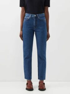M.i.h Jeans - Colt Band Collar Cotton Chambray Shirt - Womens - Navy