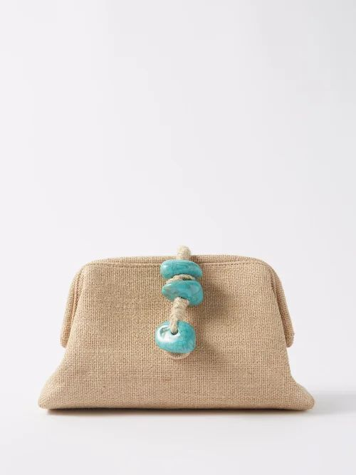 A.p.c. - Garance Woven Leather Cross Body Bag - Womens - Brown