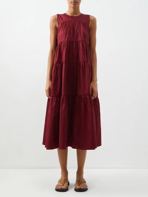 Valentino - Go Logo Escape Macramé And Leather Tote Bag - Womens - Tan Multi