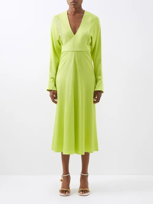 Valentino - Go Logo Escape Macramé And Leather Tote Bag - Womens - Dark Brown