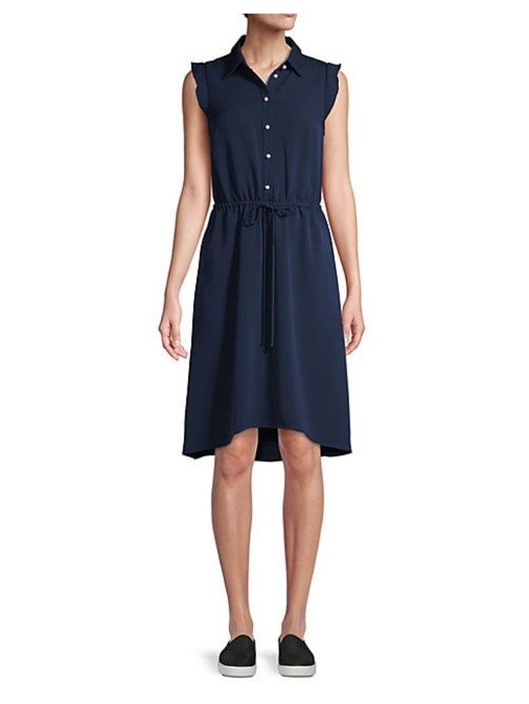 A-Line Button-Down Dress