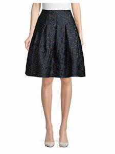 Debossed Knee-Length Skirt