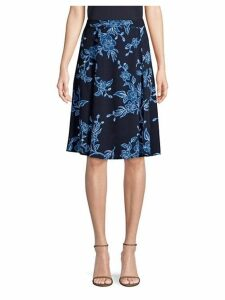 Shadow Floral A-Line Skirt