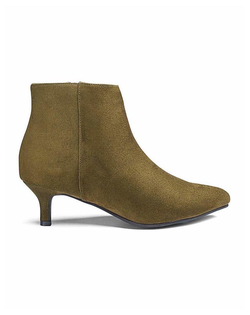 Flexi Sole Kitten Heel Boots EEE Fit