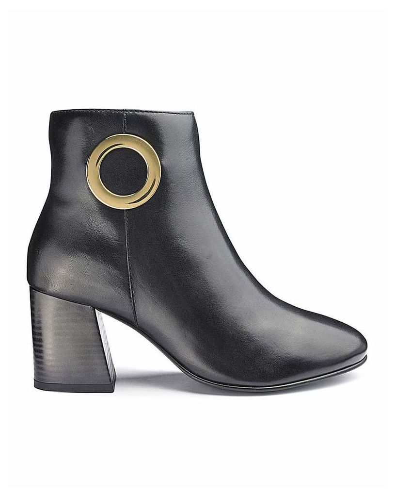 Premium Leather Ankle Boots EEE Fit