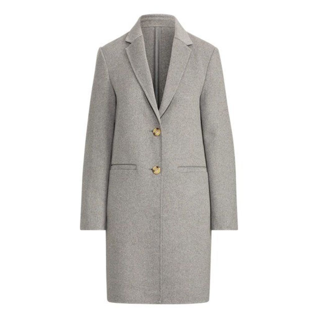 Wool-Blend Two-Button Coat
