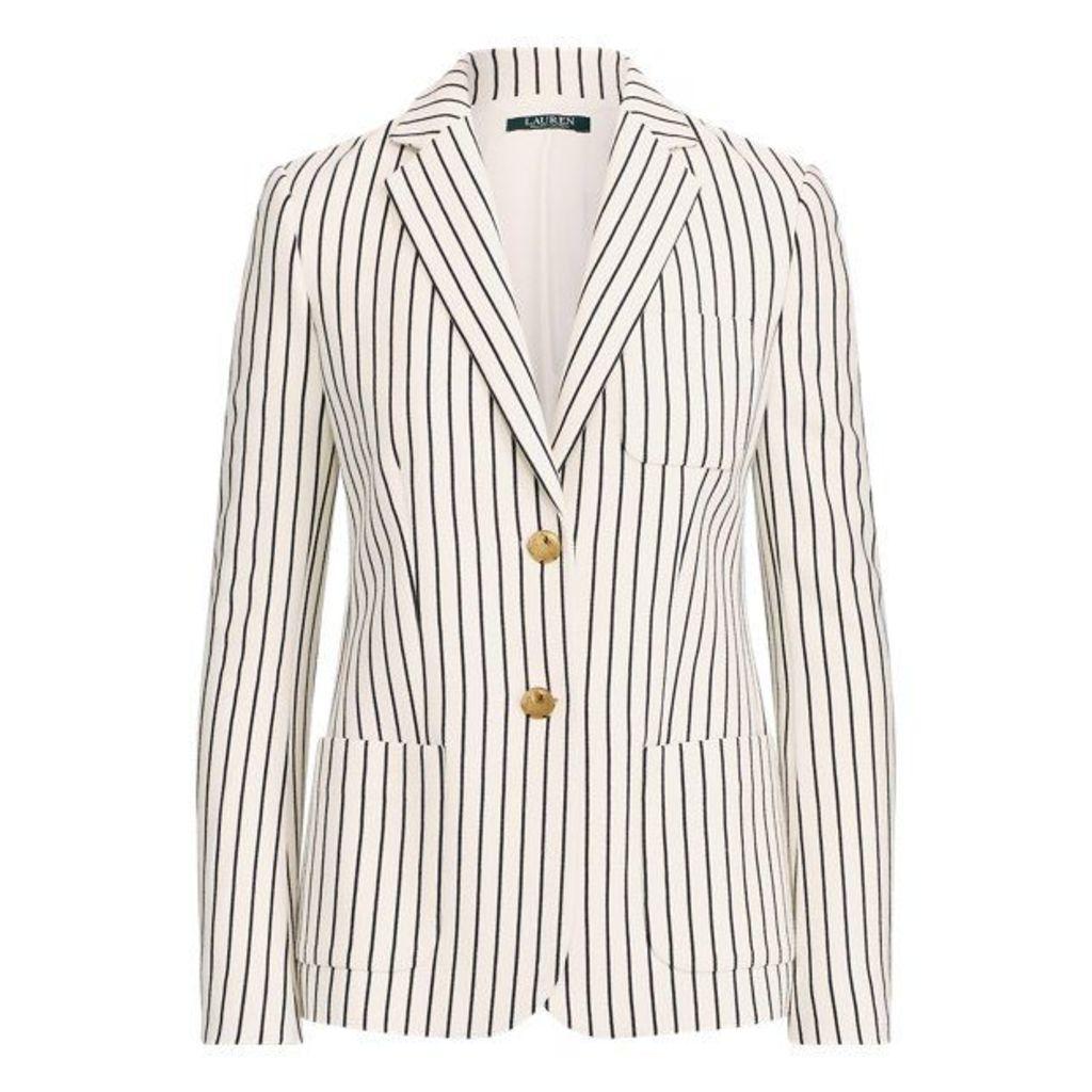 Striped Pique Blazer