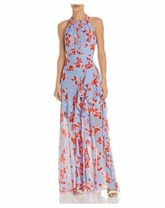Eliza J Floral Ruffle Gown