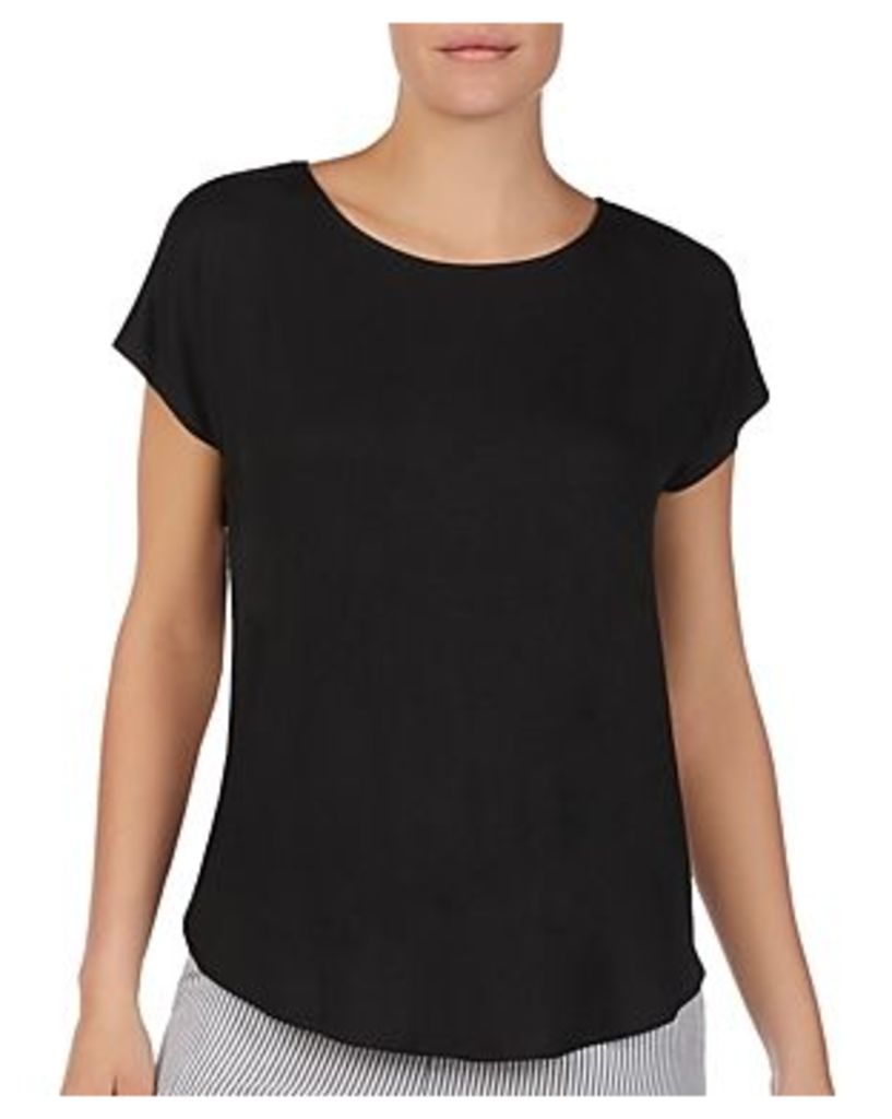 Donna Karan Seersucker-Back Lounge Top