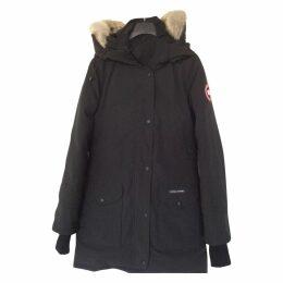 Black Polyester Trillium Coat