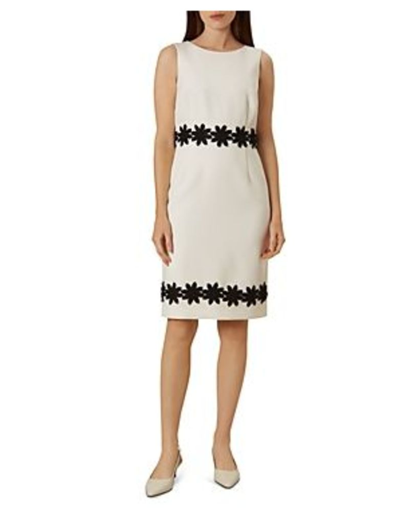 Hobbs London Louise Crochet-Trim Sheath Dress