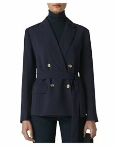 Whistles Double-Breasted Belted Blazer