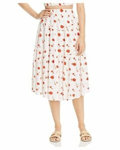 Charlie Holiday Valentine Ruffled Floral-Print Midi Skirt