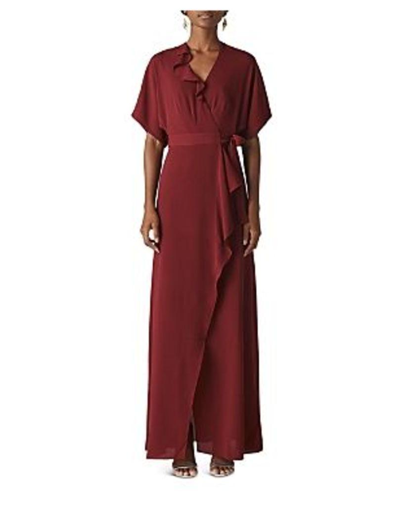 Whistles Nova Ruffled Wrap Gown