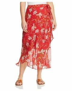 Vince Camuto Plus Floral Midi Skirt