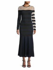 Striped Illusion Maxi Dress