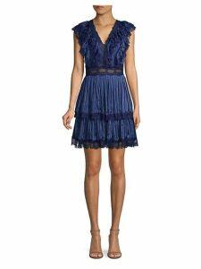 Lanora Tier Pleated Mini Dress