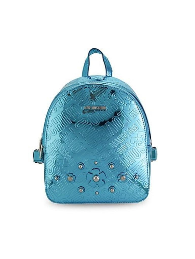 Metallic Embossed Logo Backpack