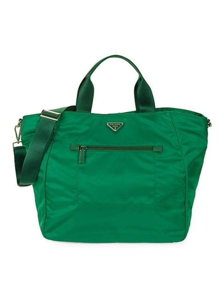 Nylon Two-Way Tote Bag