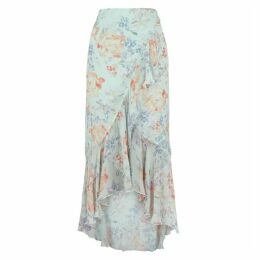 Alice + Olivia Caily Floral-print Chiffon Wrap Skirt