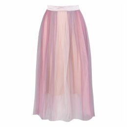 True Decadence Lilac Ombre Tulle Midi Skirt