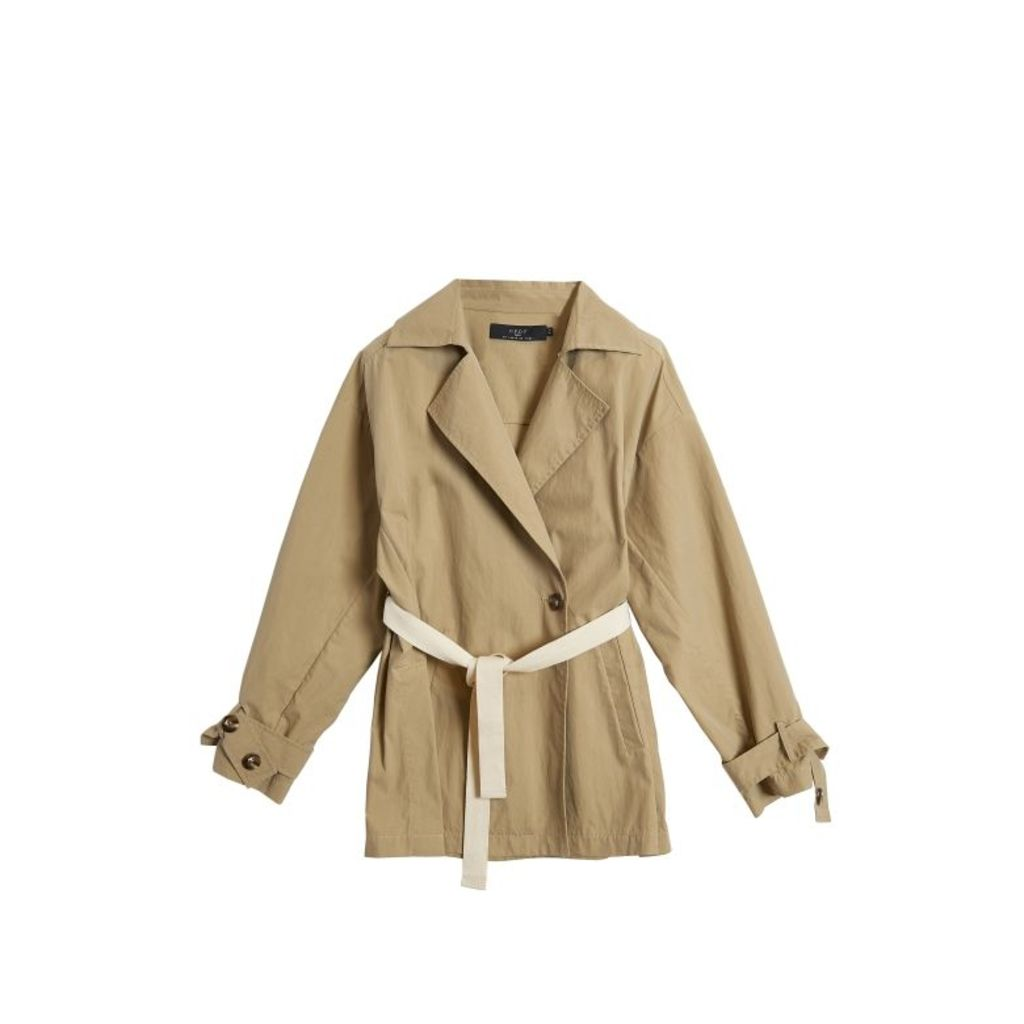 On Parle De Vous Belted Fluid Trench