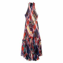 Diane Von Furstenberg Selena Printed Silk Crepe De Chine Dress