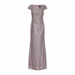 Adrianna Papell Cap Sleeve Sequin Dress