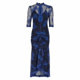 Alice McCALL Honeymoon Floral-embroidered Midi Dress