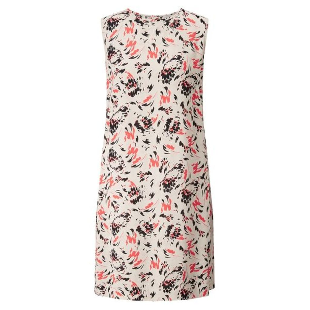Jigsaw Scattered Petal Pleat Dress