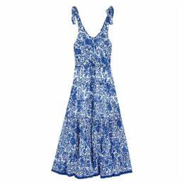 Free People Kika's Floral-print Cotton Midi Dress