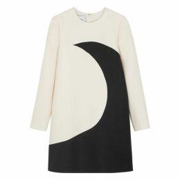Valentino Monochrome Wool-blend Mini Shift Dress