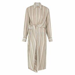 Acne Studios Striped Cotton Shirt Dress