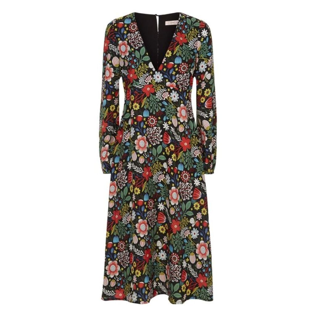 Traffic People Mama Mia Floral Dress In Black