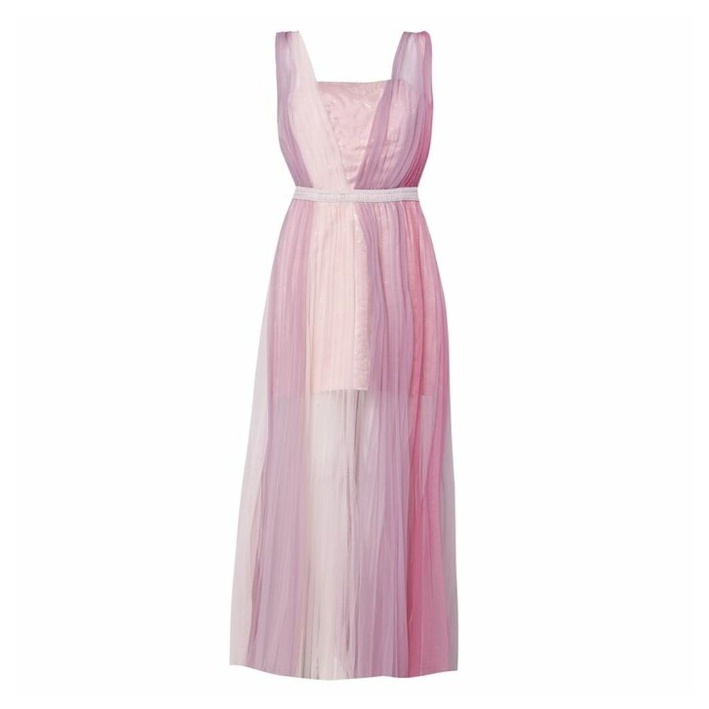 True Decadence Lilac Ombre Tulle Maxi Dress