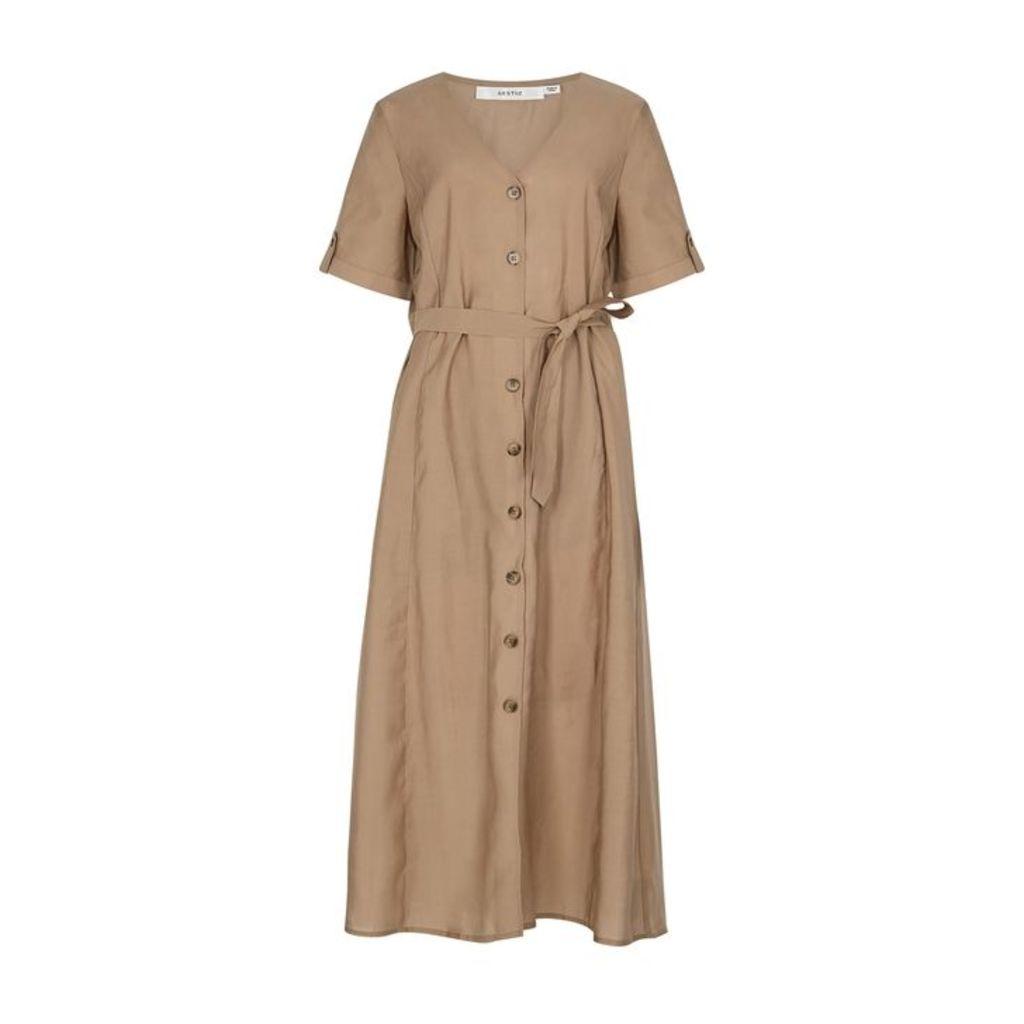 Gestuz Arienne Sand Midi Dress