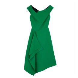 Roland Mouret Barwick Green Wool Midi Dress