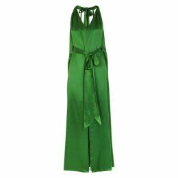 Temperley Darling Emerald Green Satin Maxi Dress