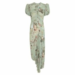 Preen By Thornton Bregazzi Tessa Floral-print Georgette Midi Dress
