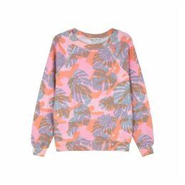 Wildfox Sommers Printed Jersey Sweatshirt