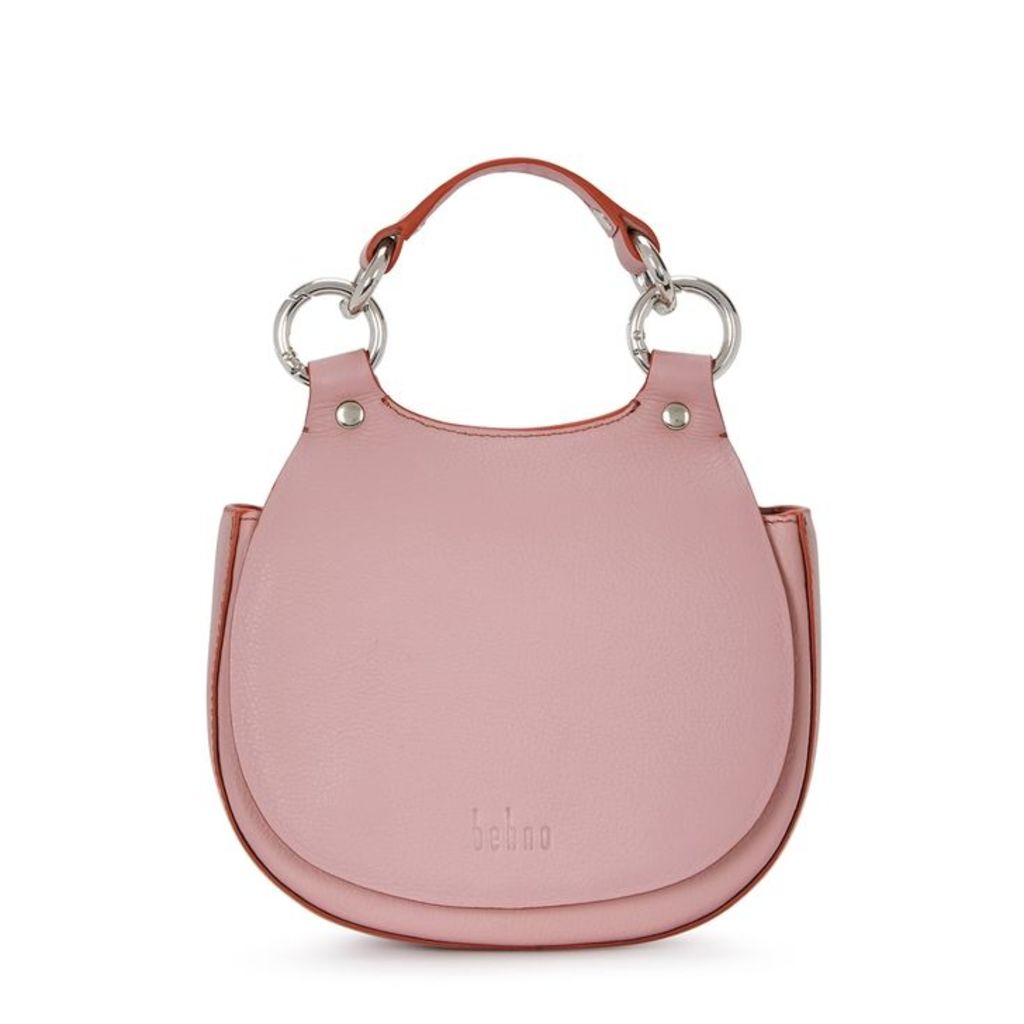 Behno Tilda Mini Pink Leather Saddle Bag