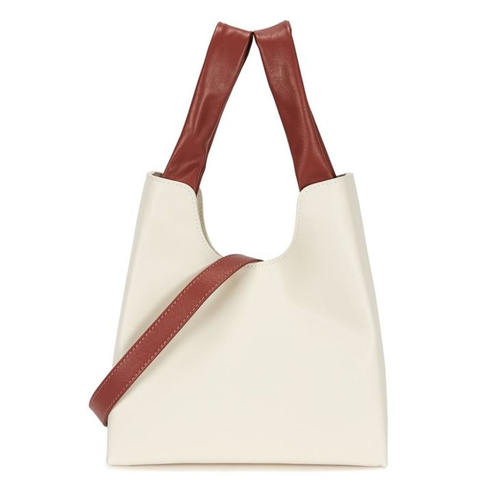ELLEME White Leather Shopper Tote