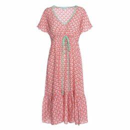 Libelula - Midi Violet Dress Shell Print