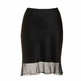 Roses Are Red - Estelle Silk Skirt In Black Lace