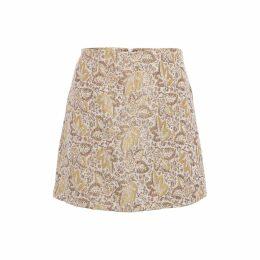WtR - Eloise Red A-Line Lattice-Trimmed Dress