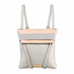 Maria Maleta - Backpack Nude Pink Blush & Grey Leather