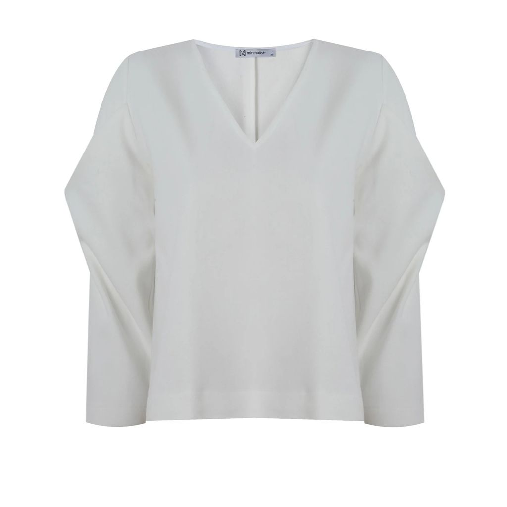 WtR - Mina White Printed Pleat Dress
