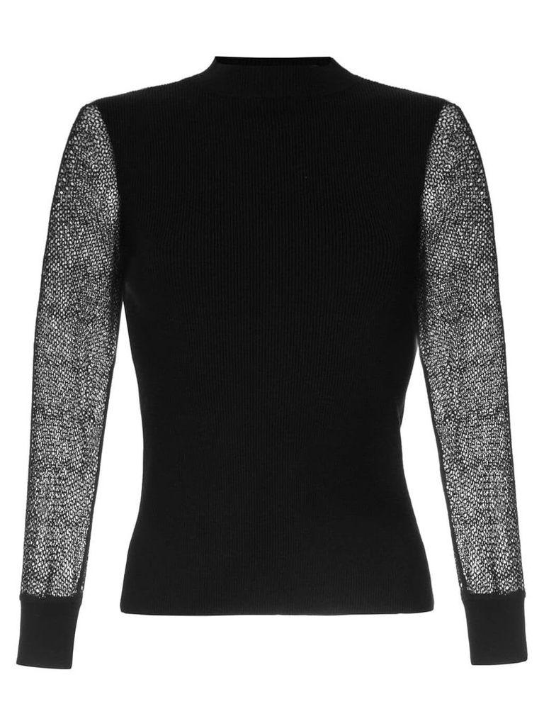 Ballsey sheer sleeve jumper - Black